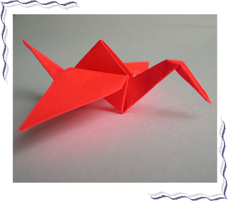 Самое знаменитое оригами - японский журавлик!
